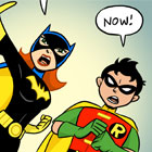 bat girl and robin